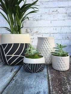 Modern ceramic container - made to order - large pottery vase - utensil holder - wheel thrown porcelain - ceramic planter