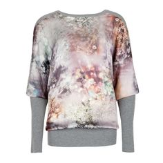 Ted Baker ALDAH - Sequin print sweater ($220) ❤ liked on Polyvore