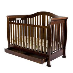 """Dream On Me Addison 4-in-1 Convertible Crib with Toddler Rail and Storage - Espresso - Dream On Me - Babies """"R"""" Us"""