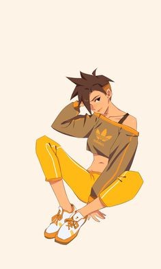 Ugh, Mama might hafta blow some dollars at the Addidas store, I'm a fan Tracer Fanart, Game Character, Character Design, Character Sketches, Tracer Cosplay, Overwatch Fan Art, Paladins Overwatch, Overwatch Memes, Overwatch Wallpapers