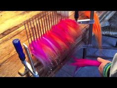 Making your own roving with a hackle and diz