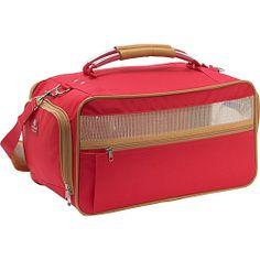 #BarkNBag, #Luggage, #PetBags - Bark n Bag Nylon Pet Carrier - Medium Red - Red/Tan
