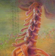 """Siete claves para la vitalidad (""""Seven keys to vitality""""). Carol McIntyre. 2014. Localización: colección particular. https://painthealth.wordpress.com/2017/03/15/siete-claves-para-la-vitalidad/"""