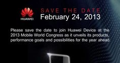 The annual CES event in Las Vegas has been and gone with only a few new smartphones being unveiled and now thoughts are turning to the Mobile World Congress that is being held next month. This is normally where various smartphone manufacturers showcase their flagship handsets that will be released throughout the year, and now we can tell you about a Huawei device invitation for the MWC 2013 February conference.
