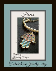 Miriam's Garden Hamsa PDF contains row by row by CactusRoseJewelry