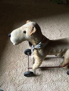Vintage Ride On Toy Stuffed Dog Lines Bros Ireland Irish Terrier On Wheels Push  | eBay Metal Toys, Tin Toys, Dog Line, Modern Toys, Irish Terrier, Ride On Toys, Pull Toy, Ireland, Shabby Chic