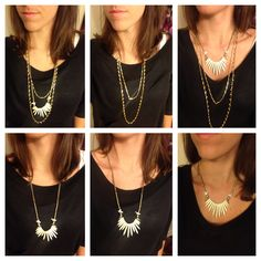 Stella & Dot Zuni Layering Necklace, 6 + necklaces in one. http://www.stelladot.com/shop/en_us/p/jewelry/necklaces/necklaces-all/zuni-layering-necklace