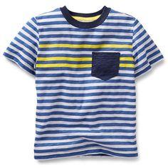 Striped Slub Jersey Tee