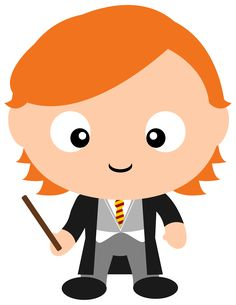 Is it Fred or George Weasley? Check out all the other Harry Potter character clipart we've made in our new Etsy shop.