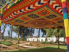 Multicolor Tent Wedding, Tents, Fair Grounds, Indian, Travel, Beautiful, Design, Teepees, Viajes