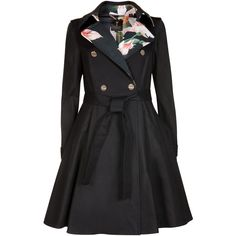 Ted Baker MCKENZY Flared skirt trench coat and other apparel, accessories and trends. Browse and shop 49 related looks. Ted Baker, Fall Jackets, Black Jackets, Fashion Corner, Coat Dress, Rock, Flare Skirt, Mantel, Clothes For Women
