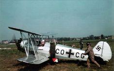 Focke-Wulf Fw 44J, W.Nr 2396, CO+GC, late summer 1940.