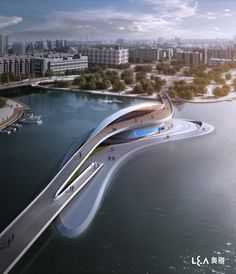 Wuxi Xidong Park Bridge (1)--http://www.archdaily.com/189896/wuxi-xidong-park-bridge-la-design-group/