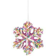 Pink Candy Snowflake Ornament