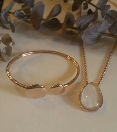 Rose Skagen bangle & sea glass necklace #ModernByMegeanContemporaryJewelry
