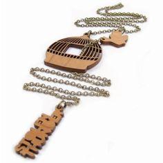 bird cage necklace - STOLEN THUNDER