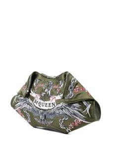 Alexander Mcqueen: clutches online - Demanta folded embroidered clutch