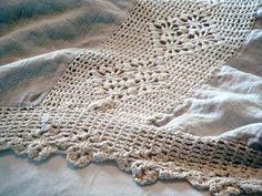 Antique Linen Bedding Detail