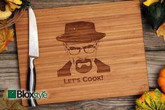Breaking Bad Inspired, Heisenberg, Let's Cook Cutting Board, Heisenberg, Breaking Bad, Walter White, Breaking Bad Gift, op Etsy, 26,63€
