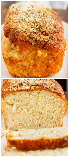 Easy herb and cheese bread made fresh for the day. Each rise helps create a tastier bread! Bread Machine Cheese Bread Recipe, Low Sodium Bread Machine Recipe, Bread Machine Recipes, Bread Recipes, Herb Bread, Bread Bun, Bread Rolls, Pioneer Woman Bread, Muffin Bread
