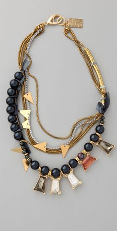 Vertical and horizontal gemstones.....Lizzie Fortunato Sister Morphine Necklace