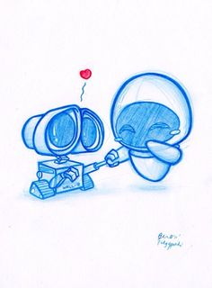 Wall-e and eve!