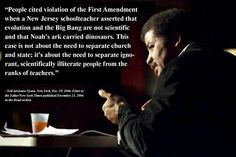 separation of church and state, but neil degrasse tyson says it's more than that. what do you think? Weather Models, Anti Religion, Religion Quotes, Intelligent Design, Atheism, Science And Nature, Science Guy, Science Quotes, Science Education