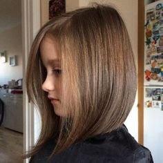 50 Cute Haircuts for Girls to Put You on Center Stage - 50 Cute Haircuts for Girls to Put You on Center Stage Bob With Long Face-Framing Pieces Little Girl Bob Haircut, Bob Haircut For Girls, Little Girl Hairstyles, Toddler Hairstyles, Teenage Hairstyles, Cute Haircuts, Long Bob Haircuts, Long Bob Hairstyles, Natural Hairstyles