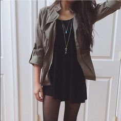 cute way to style black dresses