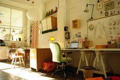 studio by herzensart, via Flickr