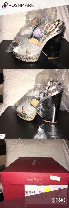 AUTHENTIC Ferragamo wedge sandals Unopened, unworn ferragamo wedges. Still in original packaging Ferragamo Shoes Wedges