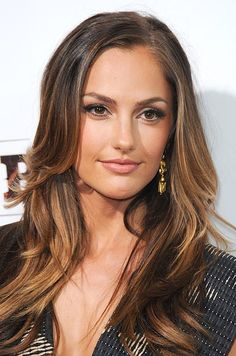 Minka Kelly has the best ombre hair! Love this!