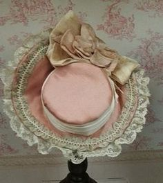 Gorgeous Bonnet, Pink and Fine!  For a Bebe or French Fashion http://www.dollshopsunited.com/stores/CPB/items/1304046/Gorgeous-Bonnet-Fine-For-Bebe-French-Fashion #dollshopsunited