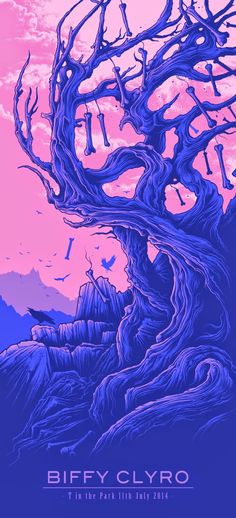 Dan Mumford, Biffy Clyro Poster hate the music! like the poster. did I say I hated the music? Festival Posters, Concert Posters, Concert Flyer, Gig Poster, Rock Posters, Band Posters, Music Posters, Dan Mumford, Musik Illustration
