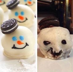 These scary snow monsters. | 19 Dessert Fails That Will Chill You To Your Very Core