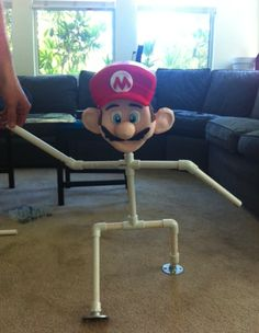 How to make a Super Mario cake or any other standing figure