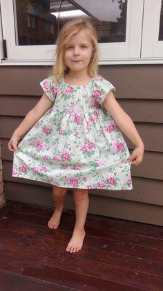 Little Rosie Multiple sizes available by LittleLizajade on Etsy #handmade #girlsdresses #rosedresses