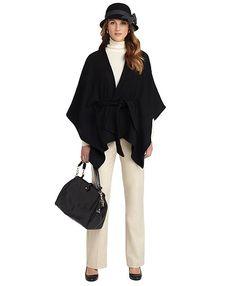 women's cashmere ruana | Wool and Cashmere Ruana - Brooks Brothers