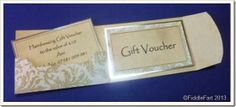 Gift Voucher Wallet.  Sizzix Die Cut