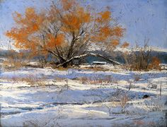 Snow Day, Hwy 1 by Margi Lucena Pastel ~ 11 x 14