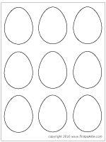 Small plain easter eggs (Set of 9)