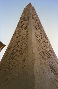Middle Kingdom obelisk inscribed with hieroglyphs, Karnak Temple, Luxor, Egypt