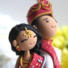 Custom Wedding Cake Topper Indian traditional by 100original
