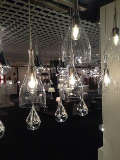 Glazen lamp voor boven eettafel