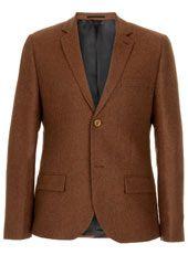 Premium Rust Herringbone Heritage Fit Suit jacket