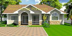 tiny house plans   Ghana Homes 3 Bedroom Single Storey Family House Plan