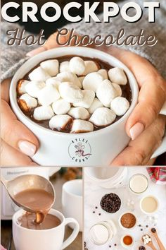 A thick, creamy and totally decadently rich slow cooker hot chocolate that can be made and kept warm for hours! Perfect for Fall and Winter celebrations (or any old Tuesday). Keto Crockpot Recipes, Slow Cooker Recipes, Low Carb Recipes, Frugal Meals, Cheap Meals, Frugal Recipes, Crockpot Hot Chocolate, Hot Chocolate Recipes, Thanksgiving Recipes