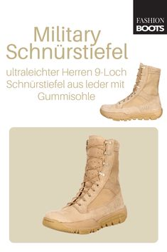 Rocky Boots RKC041 M MILITARY Desert Tan Herren Military Schnürstiefel - beige | Ultraleichter Herren 9-Loch Schnürstiefel aus der ROCKY BOOTS MILITARY BOOT Kollektion Rocky Boots, Fashion Boots, Combat Boots, Shoes, Leather, Zapatos, Shoes Outlet, Combat Boot, Footwear