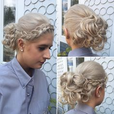 Emily created this resplendent updo with detailed braids curls and 1000% talent! #updo #style #braids #curls