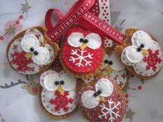 Christmas felt owl decoration £3.00